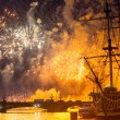 Stock Photo: Celebration Scarlet Sails show during White Nights Festival