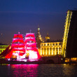 Celebration Scarlet Sails show during the White Nights Festival — Stock Photo #31119897