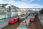 Moscow. View of Belorussky railway station — Stock Photo