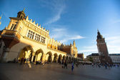 View of the Main Square in Krakow, Poland — Stock Photo
