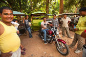 Unidentified cambodian moto-rickshaw in Angkor Wat — Stock Photo