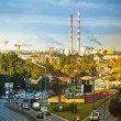 Stockfoto: Top view of industrial district in Krakow, Poland