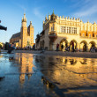 Stockfoto: View of Main Square in Krakow