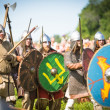 Unidentified participants during of international historical festival of medieval culture Ladogafest-2013 — Stock Photo