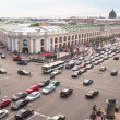 Timelapse: Bird's-eye view traffic on the St. Peterburg center, Russia (shot full HD timelapse) — Stock Video