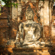 Stock Photo: buddha statue in ayutthaya
