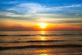 Beautiful sunset on coast of Siam Gulf — Stock Photo