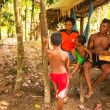 Unidentified children Orang Asli in his village — Foto de stock #31585041
