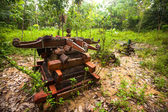 Cemetery in village Orang Asli in his village — Stock Photo