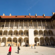 Inner yard of royal palace in Wawel — Stock Photo