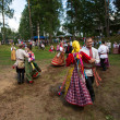 local people celebrated ivan kupala day — Stock Photo
