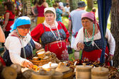 Local people celebrated Ivan Kupala Day — Stockfoto