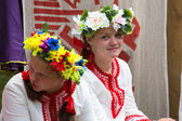 Unidentified girl during Ivan Kupala Day — Stock Photo