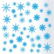 Snowflakes. Vector. — Stockvectorbeeld