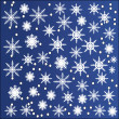 Snowflakes set. Vector. — Stock Vector
