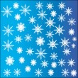 Snowflakes, vector set. — Stockvectorbeeld