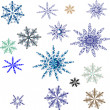 Stock vektor: Snowflake. Vector set.