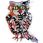 Owl. Vector drawing. — Stock Vector
