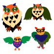 Owls — Vector de stock #31836775