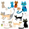 Stock Vector: Cats
