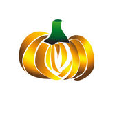 Vector pumpkin isolated on white background. — 图库矢量图片