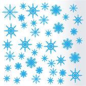 Snowflakes. Vector. — Stock Vector