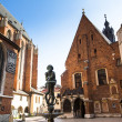 St. Mary's Church in historical center of Krakow — Stock Photo