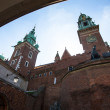 Stockfoto: On territory of Royal palace in Wawel