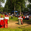 Local people celebrated Ivan Kupala Day — Foto de Stock