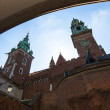 On territory of Royal palace in Wawel — Stock Photo