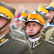 Unidentified participants feast of the Polish cavalry — Foto Stock