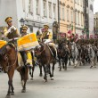 Unidentified participants feast of Polish cavalry — Foto de stock #31894025