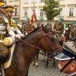 Stock Photo: Unidentified participants feast of Polish cavalry
