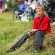Unidentified boy during Ivan Kupala Day — Stock Photo