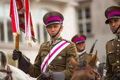 неизвестные участников праздника польской кавалерии — Стоковое фото