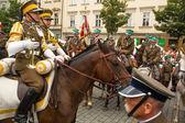Fiesta de los participantes no identificado de la caballería polaca — Foto de Stock