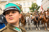 ポーランド騎兵の正体不明の参加者の饗宴 — ストック写真