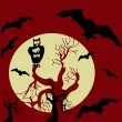 Halloween scary background. Vector illustration. — Stock Vector