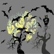 Halloween party scary background, vector illustration. — Stock Vector