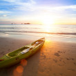 Kayak at the tropical beach at beautiful sunset. — Stock Photo #32256899
