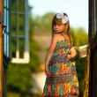 Beautiful little five-year girl — Stockfoto