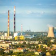Top view of the industrial district in Krakow, Poland — Stock Photo