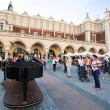 View of Main Square, Sen 8, 2013 in Krakow, Poland — Stok Fotoğraf #32258473