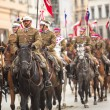 Unidentified participants feast of the Polish cavalry — Foto de Stock
