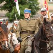 Unidentified participants feast of Polish cavalry — Stockfoto #32258605