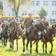 Unidentified participants feast of Polish cavalry — Stockfoto #32258691