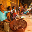 Stock Photo: Unidentified people Orang Asli in his village