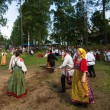 Local people celebrated Ivan Kupala Day — Stok fotoğraf