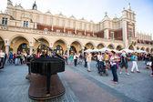 View of the Main Square, Sen 8, 2013 in Krakow, Poland — Stock Photo