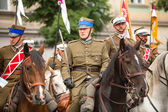 Unidentified participants feast of the Polish cavalry — Stockfoto